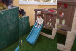 Kid sliding